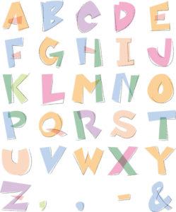 アルファベットと記号