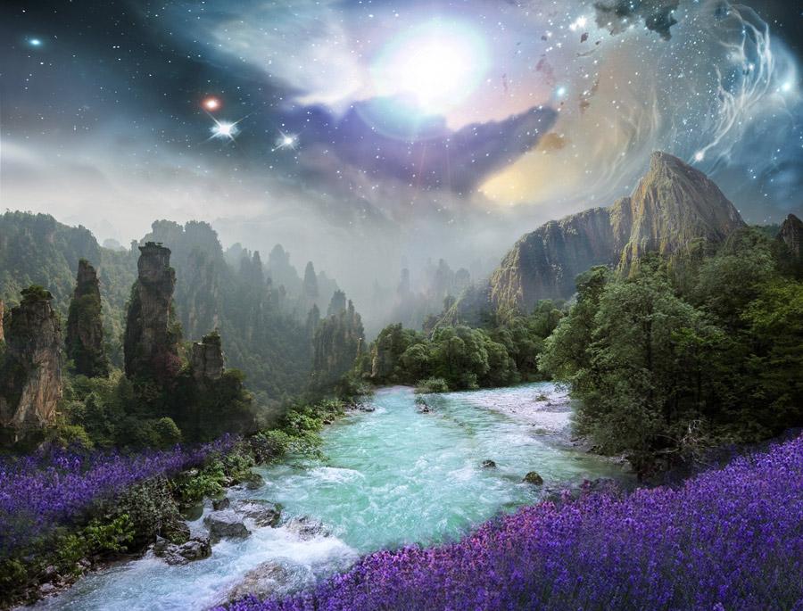 幻想的な風景